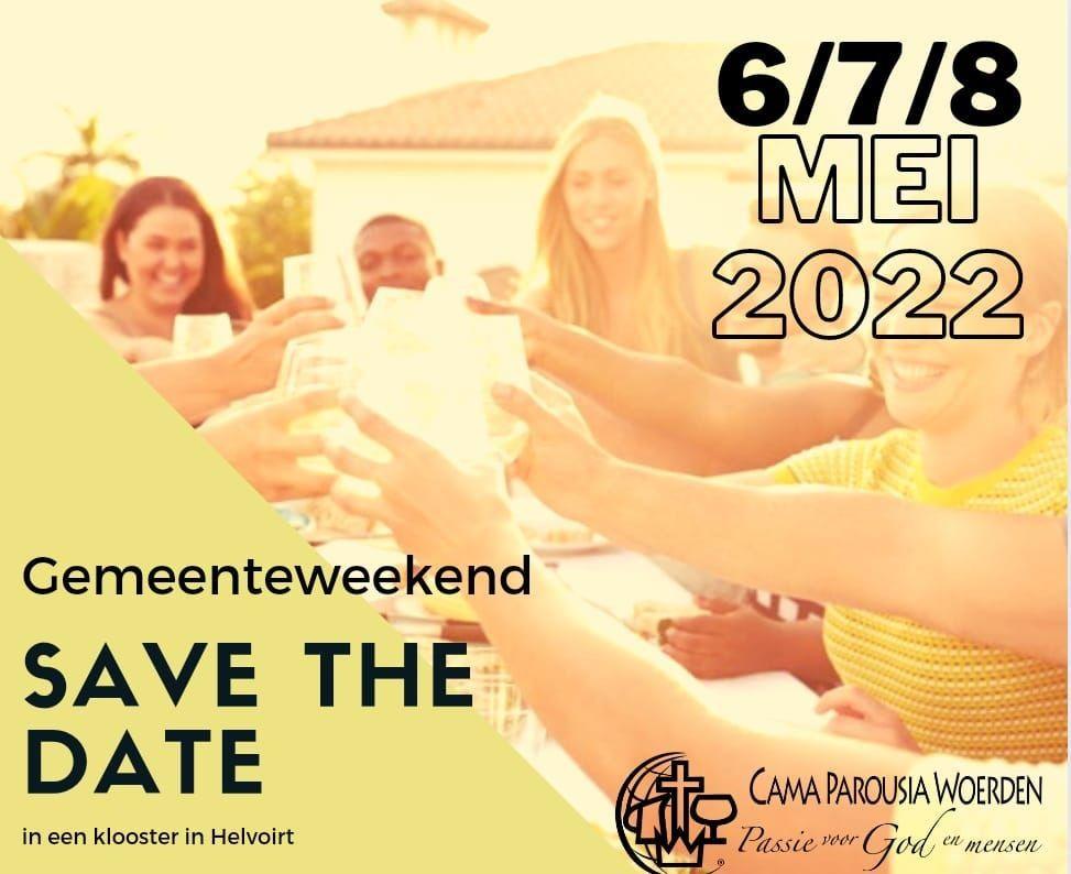 Save the date Gemeenteweekend 2022