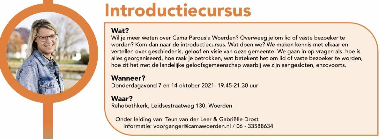 Meld je aan voor de Introductiecursus oktober 2021
